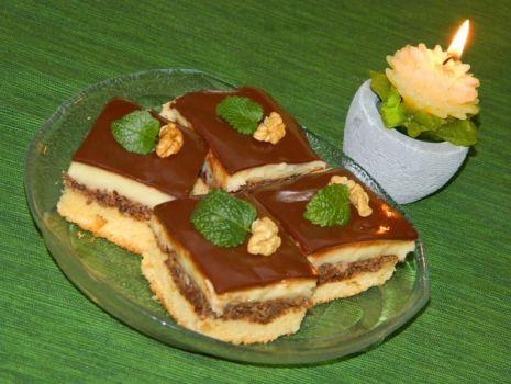 Przepis: Ciasto czekoladowe-orzechowe
