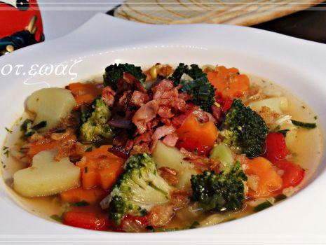 Przepis: Kolorowa zupa jarzynowa