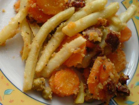 Przepis: Fasolka z marchewką i groszkiem na ciepło
