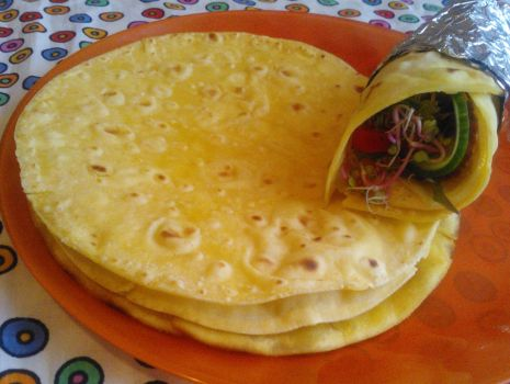 Przepis: Tortille kukurydziane