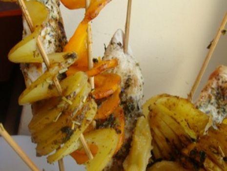 Przepis: Grillowane ślimaczki warzywno- mięsne