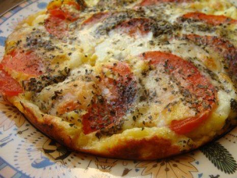Przepis: Zapiekany omlet z mozzarellą