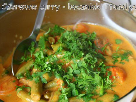 Przepis: Czerwone curry z fasolą i boczniakami