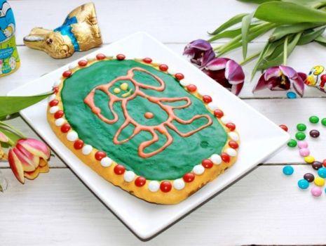 Przepis: Mazurek Wielkanocny z zajączkiem