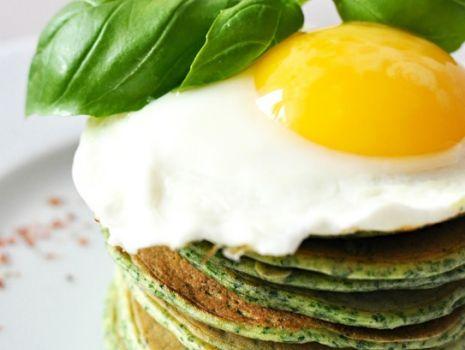 Przepis: Szpinakowe pancakes