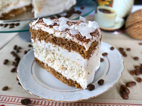 Przepis: Tort kawowo - kokosowy