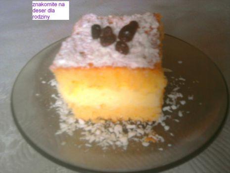 Przepis: ciasto jogurtowe z masa budyniową