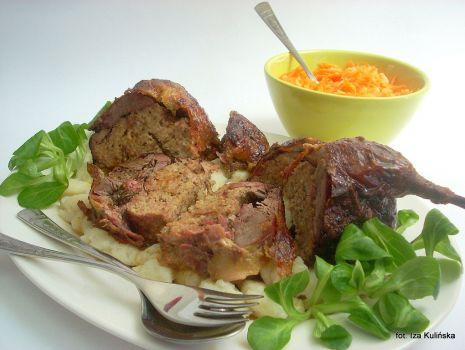 Przepis: Kaczka z farszem mięsnym