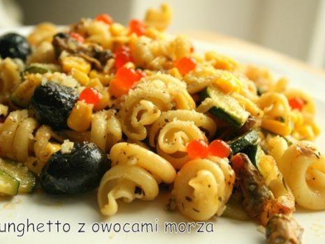 Przepis: Funghetto z owocami morza