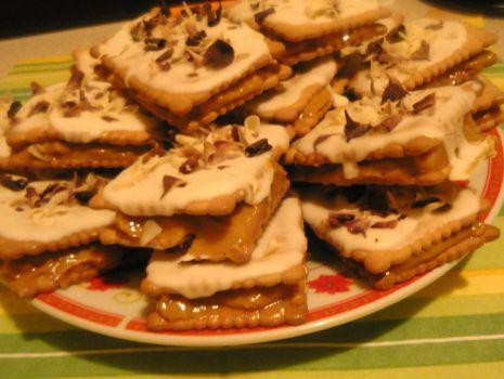 Przepis: Szybkie ciasteczka z krówką :)