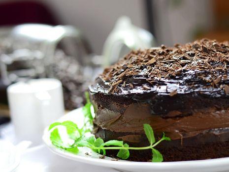 Przepis: Ciasto czekoladowe... poczwórnie