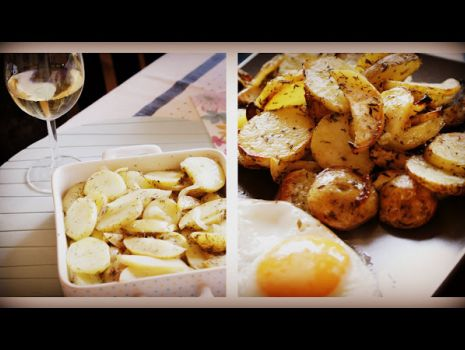 Przepis: Zapiekanka ziemniaczana   z jabłkami i tymiankiem