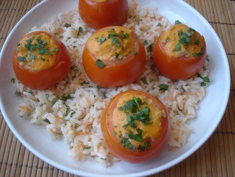 Przepis: Faszerowane pomidory na ryżu