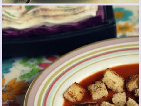 Przepis: Krem z pieczonych pomidorów
