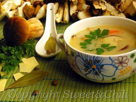 Przepis: Zupa borowikowa
