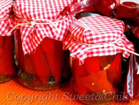 Przepis: Papryczki chili w oleju
