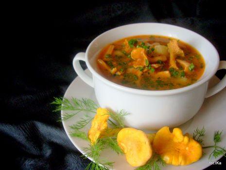 Przepis: Zupa kurkowo - marchewkowa