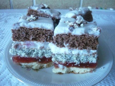 Przepis: Ciasto kolorowe