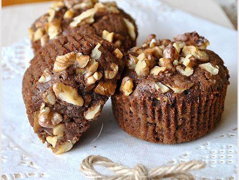 Przepis: Czekoladowe muffinki z cukinią - przepis