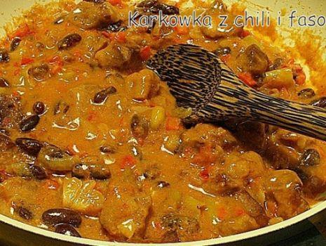 Przepis: Karkówka a'la chili con carne