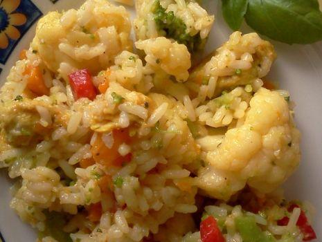 Przepis: Ryż z warzywami na tęczowo