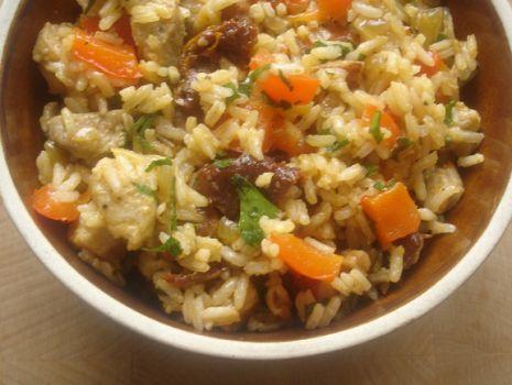 Przepis: Risotto z mięsem i warzywami