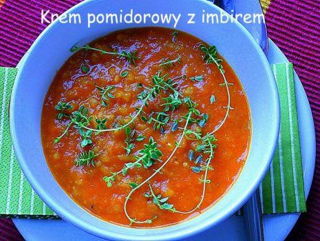 Przepis: Krem pomidorowy z imbirem