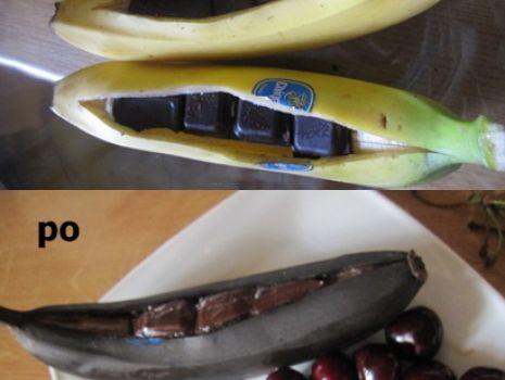 Przepis: Zapiekane banany w czekoladzie