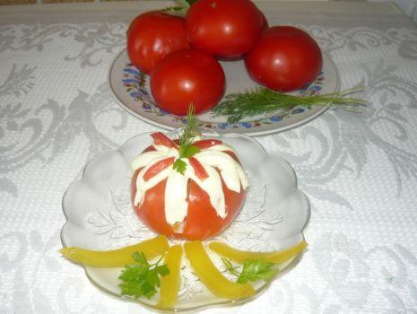 Przepis: Pomidorowe rozety