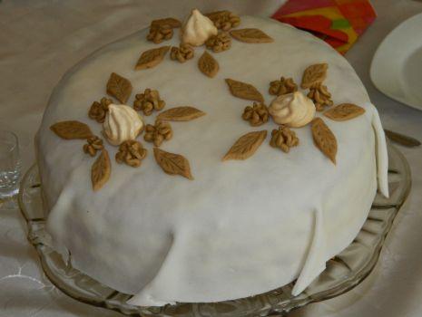 Przepis: Tort kokosowo-kawowy