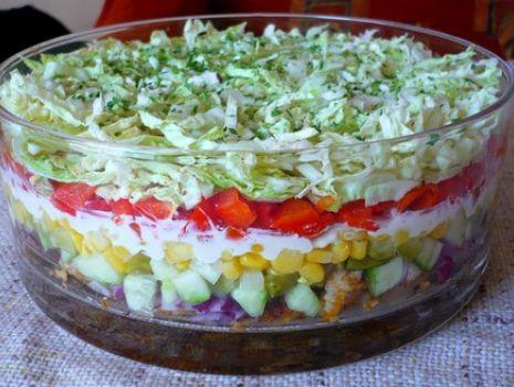 Przepis: Sałatka gyros - kebab