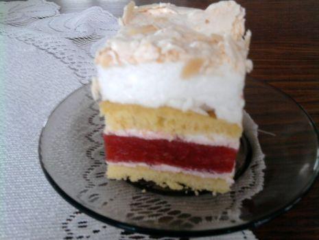 Przepis: ciasto z owocami i bezą