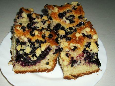 Przepis: Ciasto drożdżowe z jagodami wg Aleex