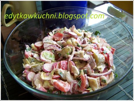 Przepis: Kolorowa sałatka obiadowa