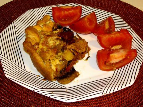 Przepis: Tarta z indykiem, grzybami portobello i aromatycznymi ziołami