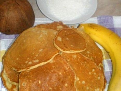 Przepis: Pancakes bananowo-kokosowe
