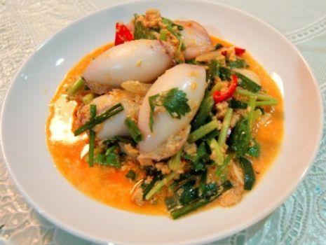 Przepis: Smażone Nadziewane Kalmary z Curry
