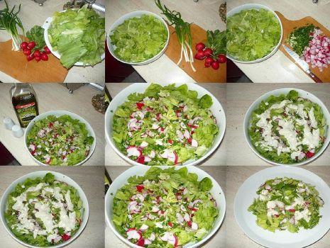 Przepis: Surówka z salat..