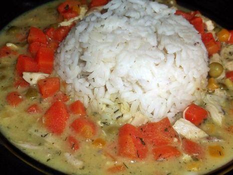 Przepis: Potrawka z kurczaka z ryżem