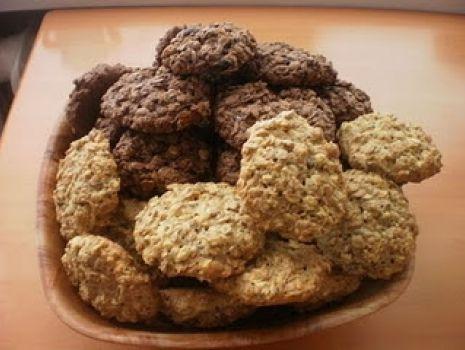 Przepis: Ciasteczka owsiane (białe i czekoladowe)