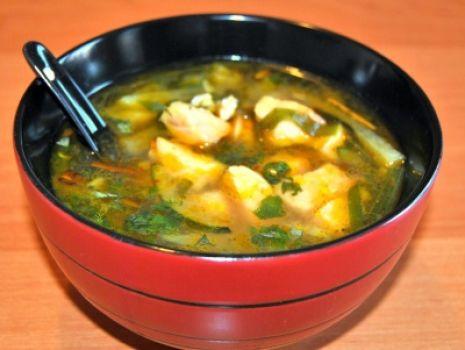 Przepis: Tajska Zupa z Łososiem
