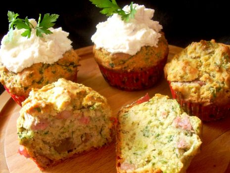 Przepis: Muffiny z białą kiełbasą