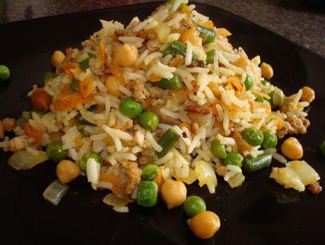 Przepis: Ryz z mielonym i warzywami