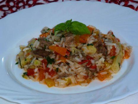 Przepis: Risotto z wołowiną i warzywami