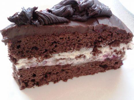 Przepis: Ciasto mocno czekoladowe