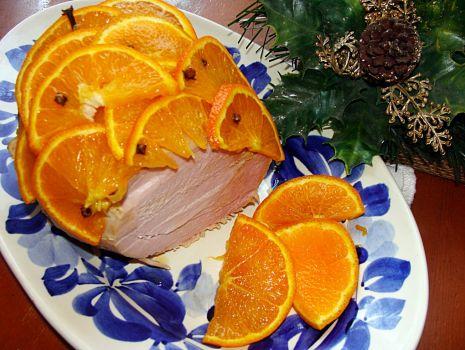 Przepis: Szynka w pomarańczach