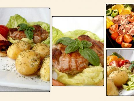 Przepis: Smażona karkówka z warzywami