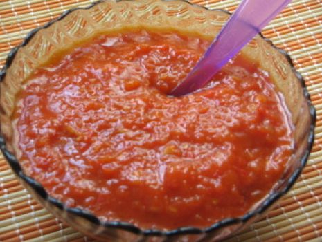 Przepis: Sos pomidorowo paprykowy