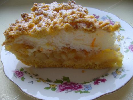 Przepis: Kruche ciasto z gruszkami i skórką pomarańczową