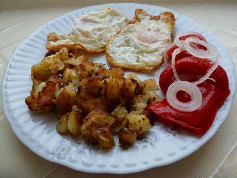 Przepis: Smażone ziemniaki ziołowe do obiadu